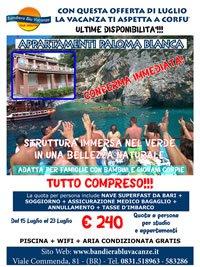 OFFERTISSIMA CORFU APPARTAMENTI PALOMA BLANCA DAL 15 AL 23 LUGLIO TUTTO A 240 Euro